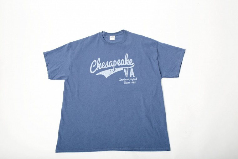 chesapeake founding date on shirt is off way off