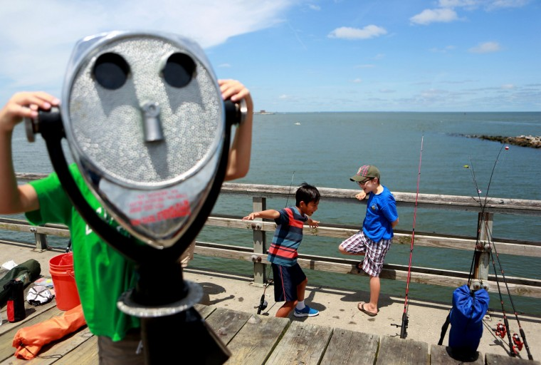 Photos cub scouts at the cbbt fishing pier for Hampton roads fishing report