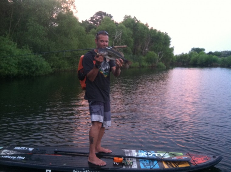 Longtime Angler Stands Up To Fish With Paddleboard