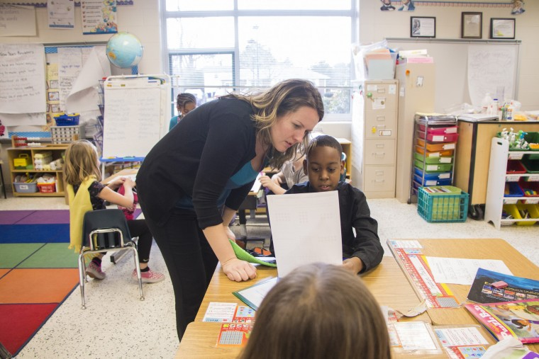 ... at Cooke Elementary School. (Ashley Baum | For The Virginian-Pilot