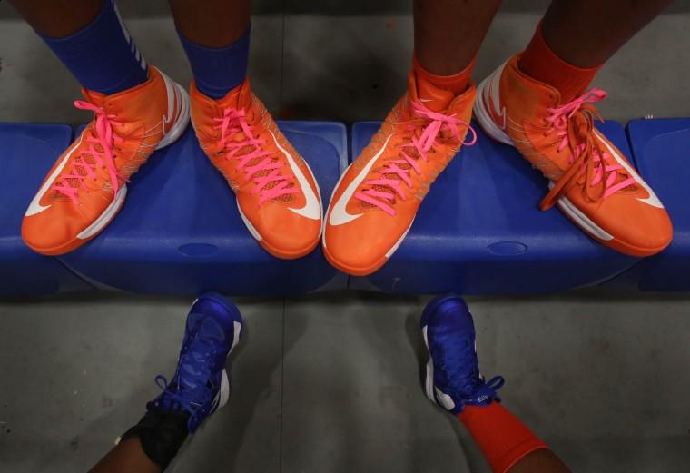 Girls hoops: Wilson High twins sport Shaq-size shoes