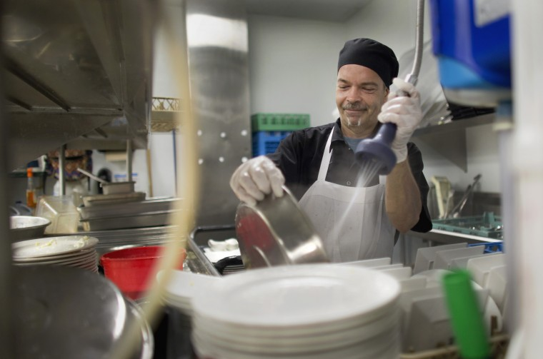 At Work With William Michael Simonds Head Dishwasher At