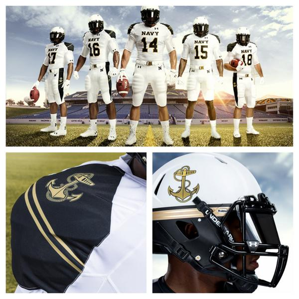 The Navy football team will wear special  quot Summer Whites quot  uniforms when    Navy Football Uniform