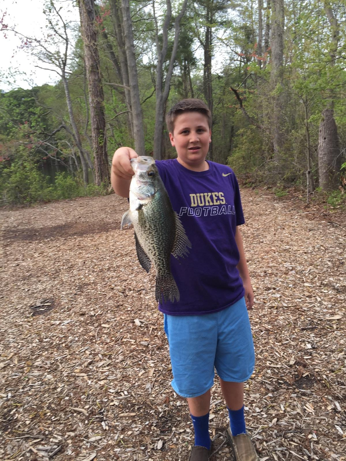 Teen Snags Trophy Sized Crappie