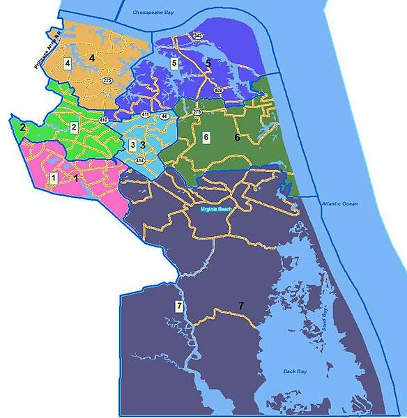 Virginia Beach Voting District Map