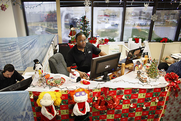 Over The Top Office Christmas Decorations Photograph  ... C