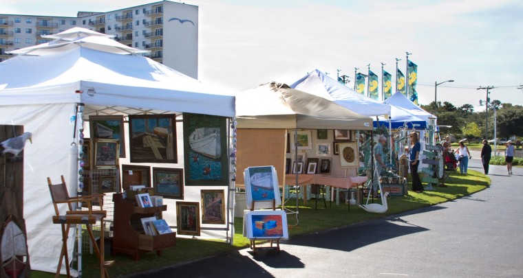 The ocean view art show shown here in 2011 is for Craft shows in hampton roads