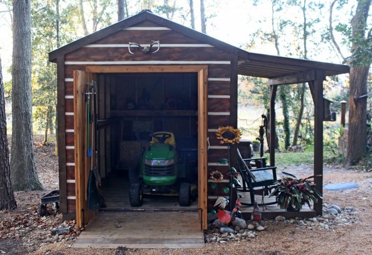 Lawn mower shed designs brisbane