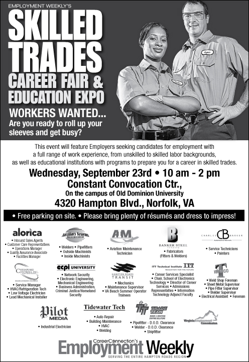 Employment Weekly Skilled Trades Career Fair