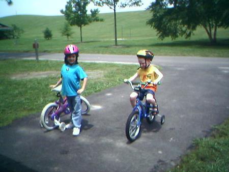ride bike. playground, and ride bikes