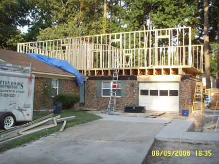 Couple reach new level with second story addition for Framing a second floor addition