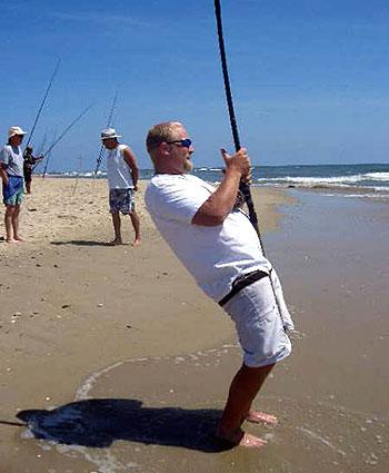 Dispensing bait via kayak gets excellent results for surf for Hampton roads fishing report