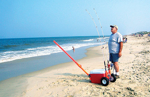 Amputee faces fishing woes with bait launcher for Surf fishing virginia beach